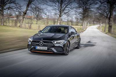 Mercedes-Benz CLA 250 4MATIC Coupe, kosmosschwarz metallic, Edition 1, Ledernachbildung ARTICO Mikrofaser DINAMICA schwarz;Kraftstoffverbrauch kombiniert: 6,7-6,5 l/100 km; CO2-Emissionen kombiniert: 153-149 g/km*  Mercedes-Benz CLA 250 4MATIC Coupe, cosmos black metallic, Edition 1, ARTICO man-made leather, DINAMICA microfiber black;Fuel consumption combined: 6.7-6.5 l/100 km; Combined CO2 emissions: 153-149 g/km*