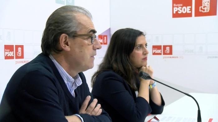 Luis Briones Esther Peña Sede PSOE (Octubre 2019)