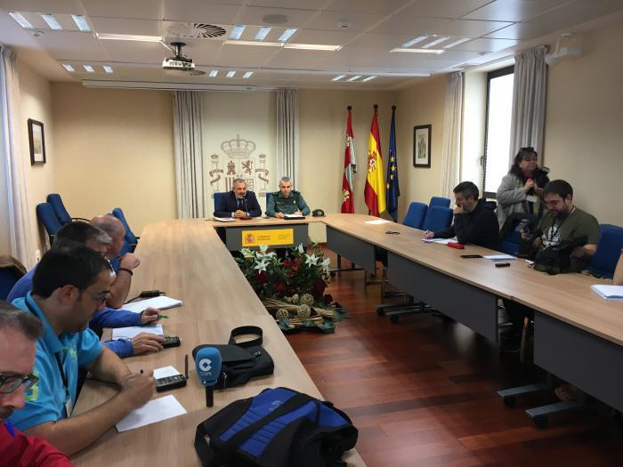 Pedro de la Fuente, subdelegado del Gobierno en Burgos, y Alfonso Martín, teniente coronel de la Guardia Civil
