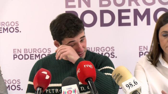 Raúl Salinero en su dimisión como concejal