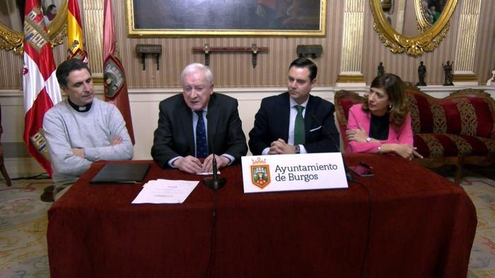 Firma Convenio Ayuntamiento Fundacion VIII Centenario Catedral Burgos Daniel de la Rosa Mendez Pozo Vicente Rebollo (Diciembre 2019)