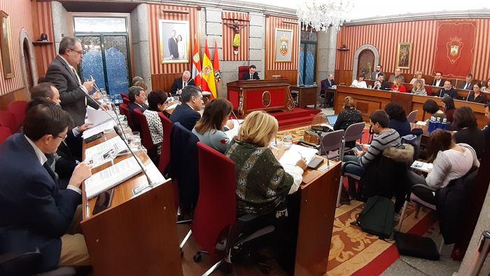 Imagen de archivo del Pleno Ayuntamiento Burgos (Enero 2020)