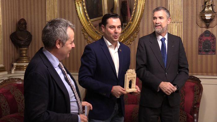 Reunion Alcalde Daniel de la Rosa Manuel Perez Mateos Ayuntamiento Burgos (Enero 2020)