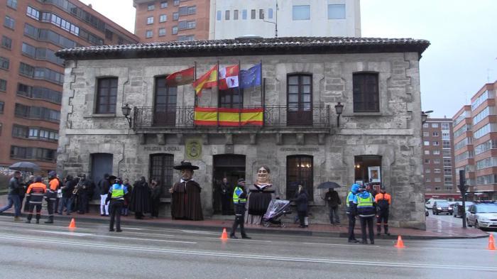Ayuntamiento de Gamonal durante la celebración de Las Candelas