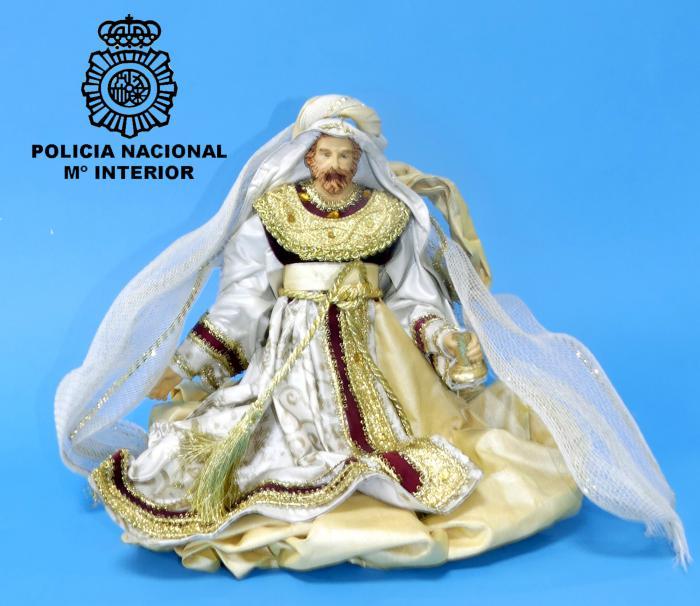 Figura de Gaspar robada del belén del HUBU