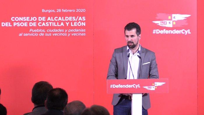 Consejo de Alcaldes PSOE Castilla y León Luis Tudanca Daniel de la Rosa Monasterio San Agustin (Febrero 2020)
