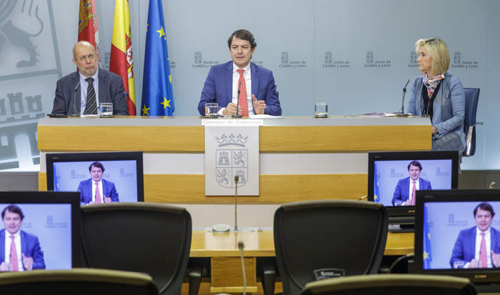 Rueda de prensa Mañueco Igea y Casado