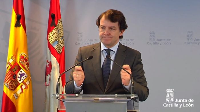 Alfonso Fernández Mañueco (Abril 2020)