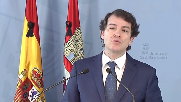 Alfonso Fernandez Mañueco Presidente Junta Castilla y Leon (Abril 2020)