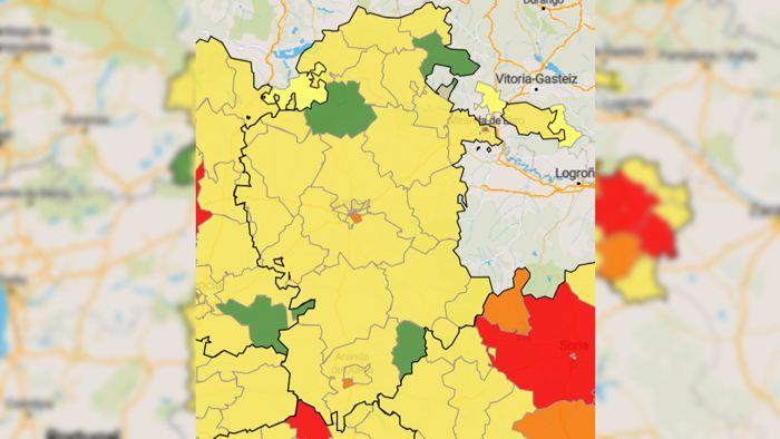 Valle De Sedano Mapa.Huerta De Rey Sedano Y Valle De Losa Siguen Sin Ningun Caso Noticias Y Actualidad De Burgos