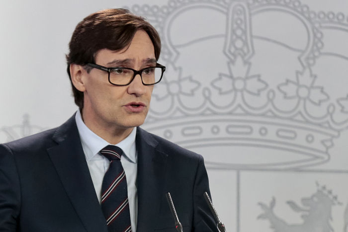 Salvador Illa Ministros de Sanidad Moncloa (Abril 2020)