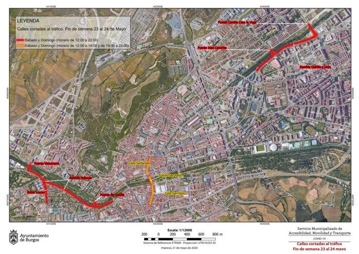 Calles Cortadas Trafico Peatonalizacion Semana 23 24 MAYO