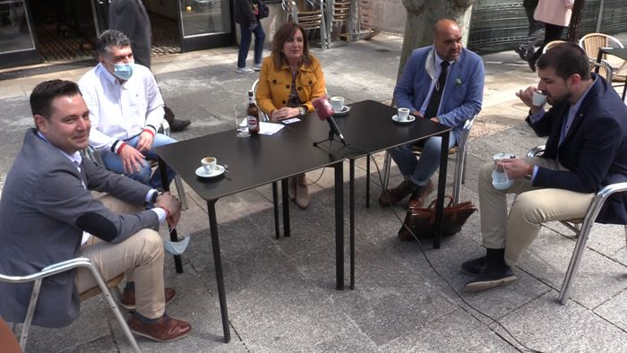 Visita PSOE Ciudadanos De la Rosa Marañon Perez Pardo David Jurado Terrazas Bares Hosteleria Fase 1 Coronavirus (Mayo 2020)