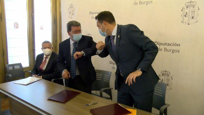 Firma Convenio Sodebur Promueve Burgos César Rico Daniel de la Rosa 2