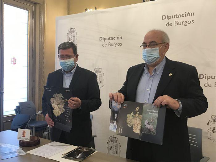 Presentación folletos Burgos de Leyenda_César Rico y Jesús Sendino