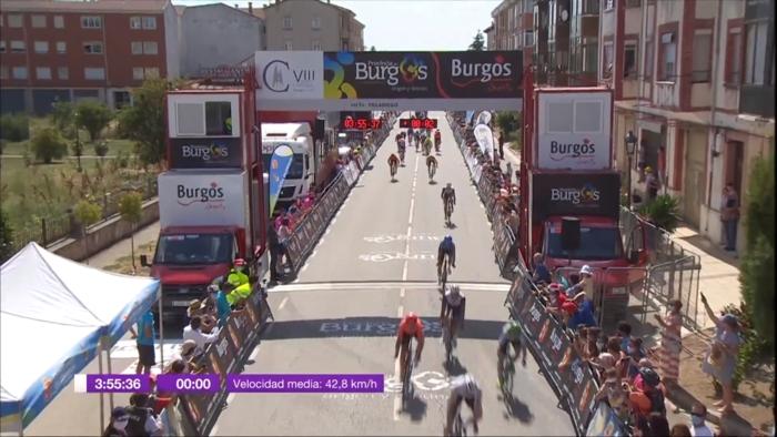 Vuelta Ciclista Burgos Gente Mascarillas Segunda Etapa (Julio 2020)