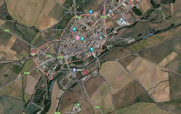 foto satélite Villadiego