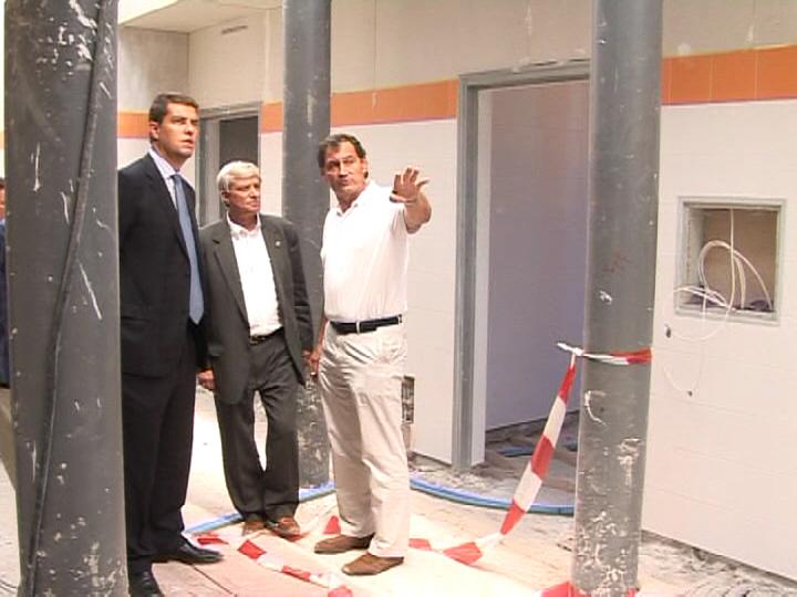 José Luis Fernández Manzanedo visita las obras de la Ciudad Deportiva. 2010.