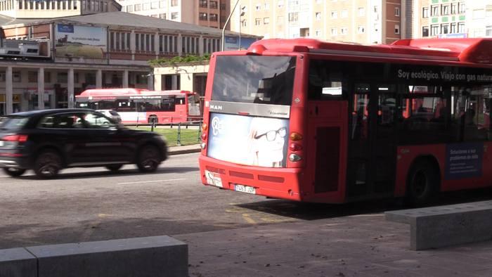 Plaza España Dia Sin Coche Autobuses (Septiembre 2020)
