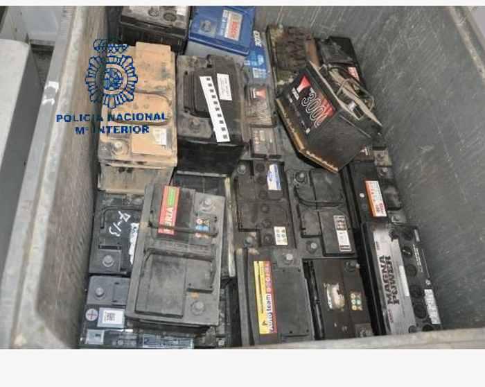 baterías robadas intervención policial