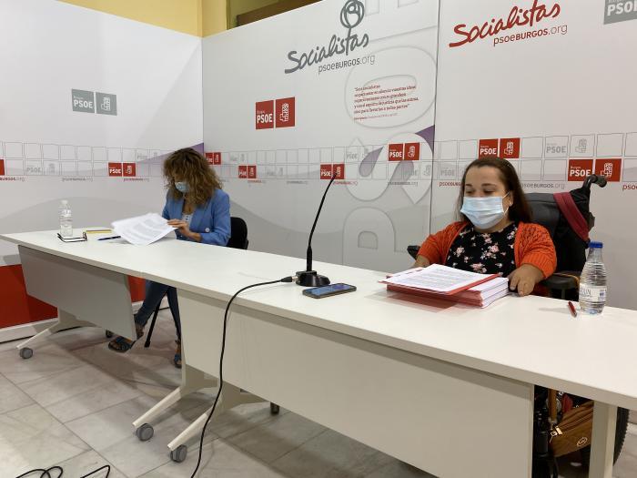 Virginia Jiménez y Noelia Frutos, procuradoras socialistas en las Cortes