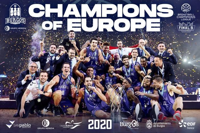 San Pablo Burgos Campeones Europa Champions League FIBA (Septiembre 2020)