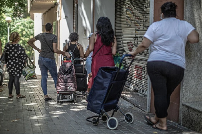Reparto de alimento. Foto: Pablo Tosco / Oxfam Intermón