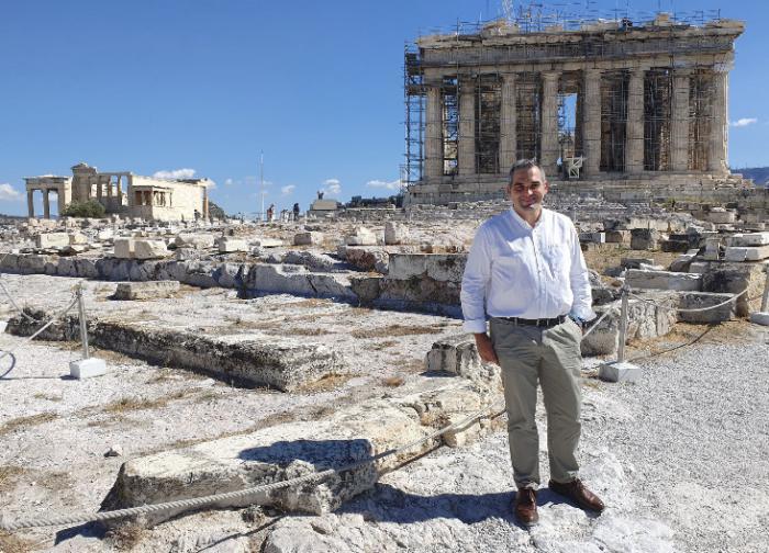Leví Moreno en Atenas en una fotografía de su perfil de Twitter