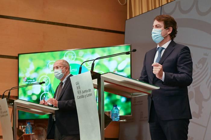 Alfonso Fernandez Mañueco Francisco Igea Carriedo Presupuestos Junta CYL (Noviembre 2020)
