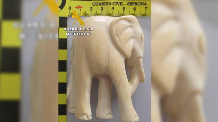 Elefante Marfil Robado Guardia Civil (Enero 2021)