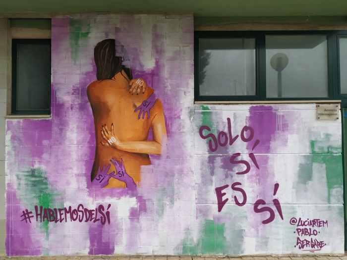 graffiti amnistía internacional contra la violencia sexual