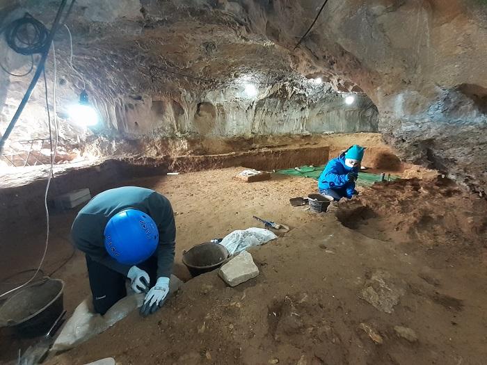 """Vista general de la excavación en el """"sector hornacina"""""""