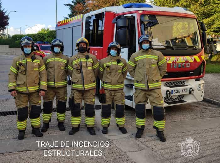traje de incendios