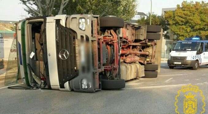 Camión-Accidente-Villalonquejar