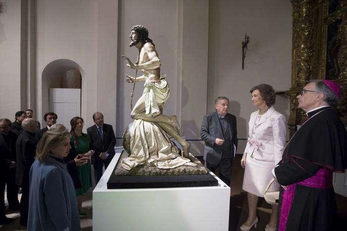 La Reina Sofía inaugurando Las Edades del Hombre de Cuéllar