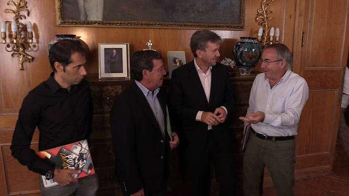 Javier Lacalle César Rico presentación vuelta España Burgos Septiembre 2017