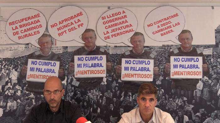 Junta Personal Sindicatos Diputacion Fernando Ojeda Luis Perez Alonso (Octubre 2019)