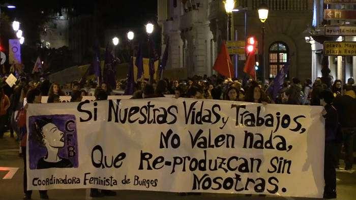 Manifestación Coordinadora Feminista Burgos