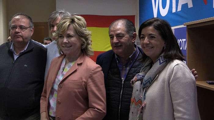Pilar del Castillo Sandra Moneo Sede PP Gamonal Elecciones (Abril 2019)