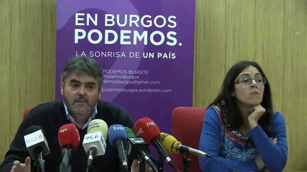 Ignacio Lacámara y Laura Domínguez Podemos Burgos