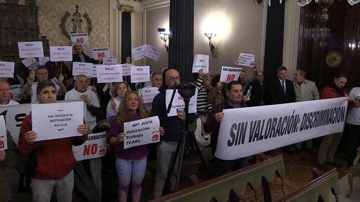 Protestas Pleno Diputacion SOI CCOO CGT(Febrero 2019)