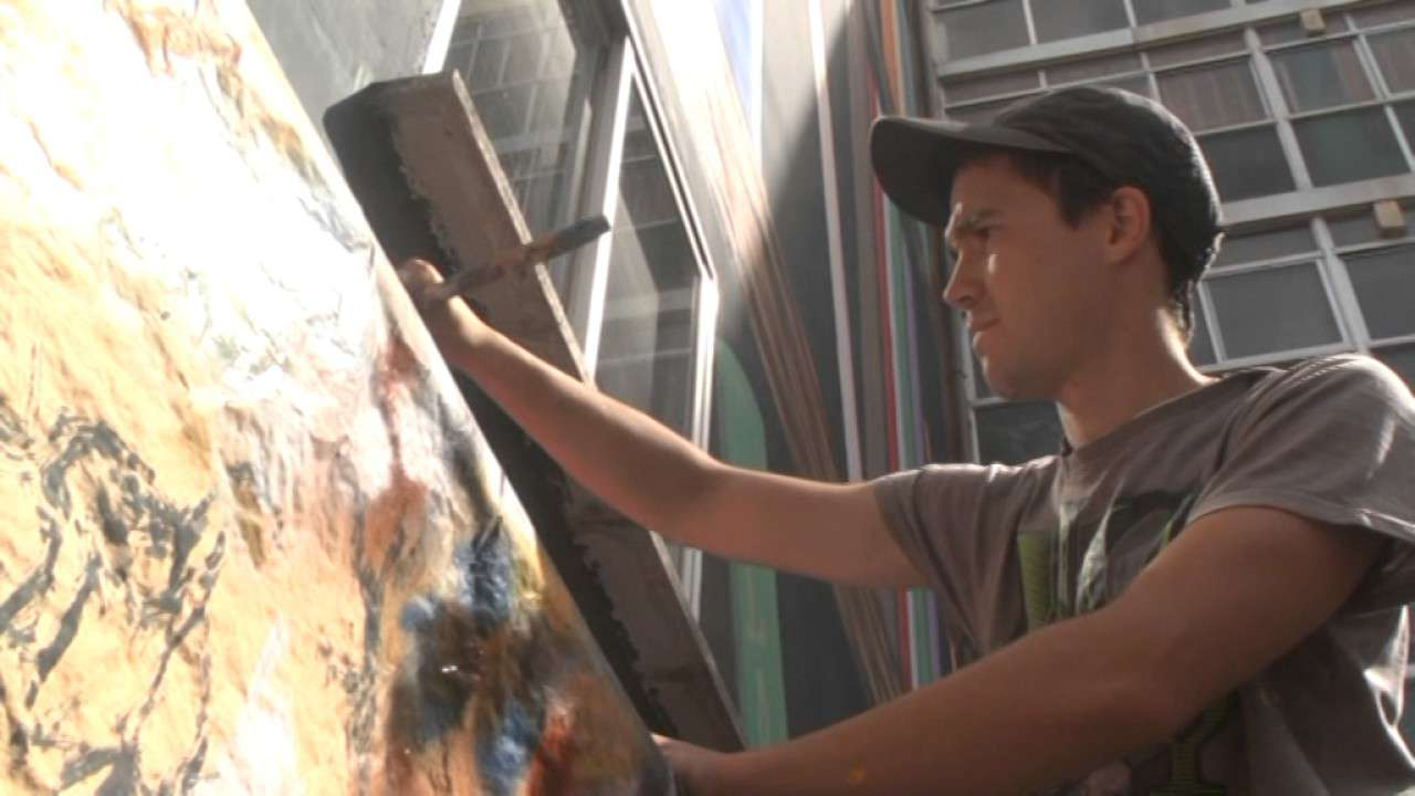 mural pintor trabajo empleo