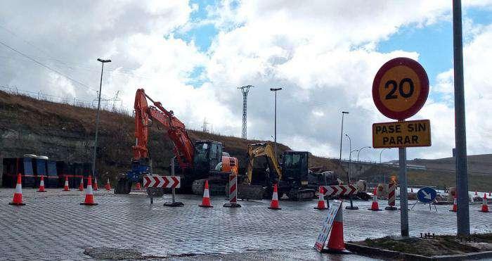 Demolición peajes de la AP-1 en Briviesca