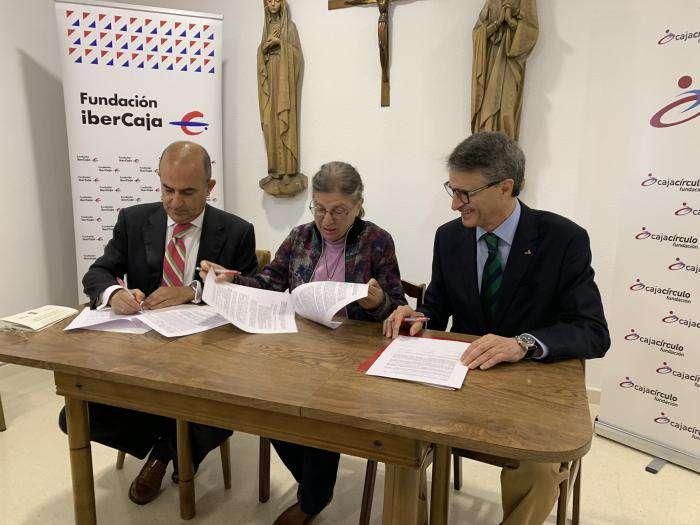 Convenio Fundación Cajacírculo e Ibercaja y Congregación Hijas del Calvario