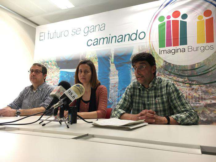 Miembros de Imagina Burgos con Eva de Ara