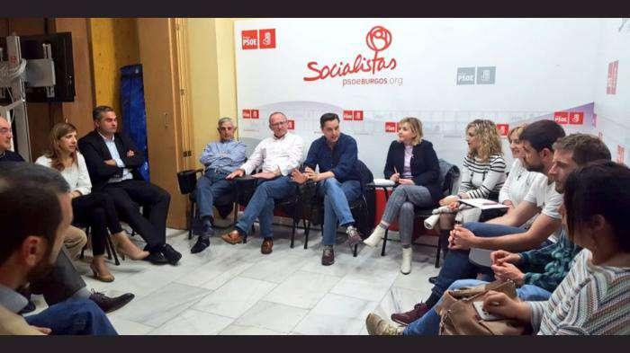 Reunión de la candidatura socialista