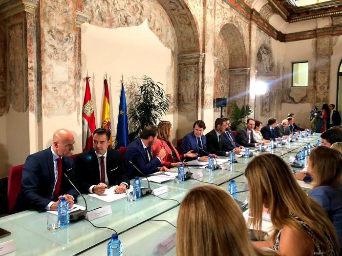 Reunión de alcaldes en Valladolid